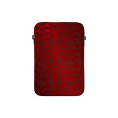 Red Dark Vintage Pattern Apple Ipad Mini Protective Soft Cases by BangZart
