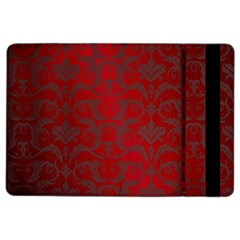Red Dark Vintage Pattern Ipad Air 2 Flip