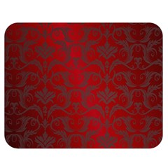 Red Dark Vintage Pattern Double Sided Flano Blanket (medium)