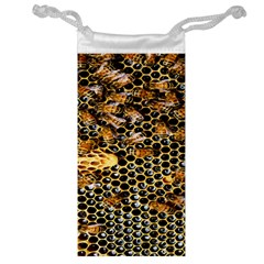 Queen Cup Honeycomb Honey Bee Jewelry Bag