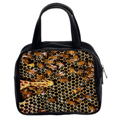 Queen Cup Honeycomb Honey Bee Classic Handbags (2 Sides) by BangZart