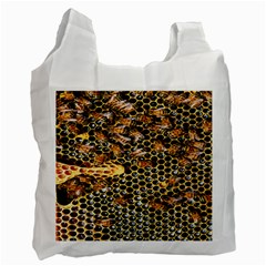 Queen Cup Honeycomb Honey Bee Recycle Bag (one Side) by BangZart