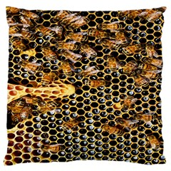 Queen Cup Honeycomb Honey Bee Large Cushion Case (one Side)