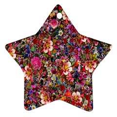 Psychedelic Flower Ornament (star) by BangZart