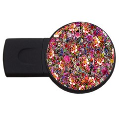 Psychedelic Flower Usb Flash Drive Round (2 Gb) by BangZart