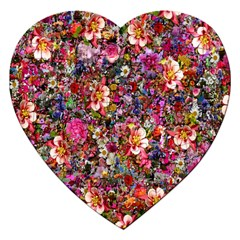 Psychedelic Flower Jigsaw Puzzle (heart) by BangZart