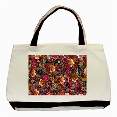 Psychedelic Flower Basic Tote Bag by BangZart