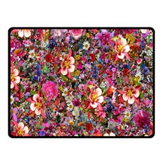 Psychedelic Flower Fleece Blanket (small) by BangZart