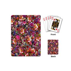 Psychedelic Flower Playing Cards (mini)  by BangZart