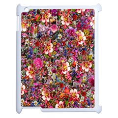 Psychedelic Flower Apple Ipad 2 Case (white) by BangZart