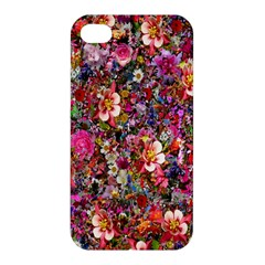 Psychedelic Flower Apple Iphone 4/4s Premium Hardshell Case by BangZart