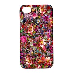 Psychedelic Flower Apple Iphone 4/4s Hardshell Case With Stand
