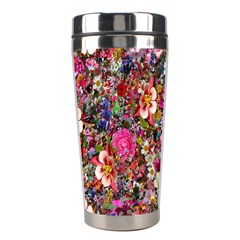 Psychedelic Flower Stainless Steel Travel Tumblers by BangZart