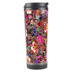 Psychedelic Flower Travel Tumbler by BangZart