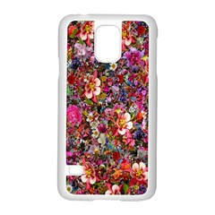 Psychedelic Flower Samsung Galaxy S5 Case (white) by BangZart
