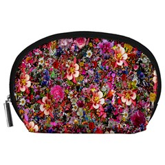 Psychedelic Flower Accessory Pouches (large)  by BangZart