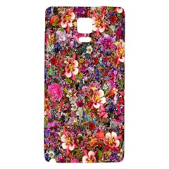 Psychedelic Flower Galaxy Note 4 Back Case by BangZart