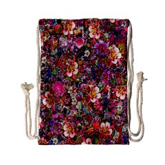 Psychedelic Flower Drawstring Bag (small)