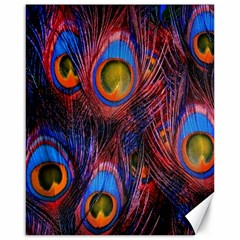 Pretty Peacock Feather Canvas 16  X 20   by BangZart