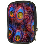 Pretty Peacock Feather Compact Camera Cases Front