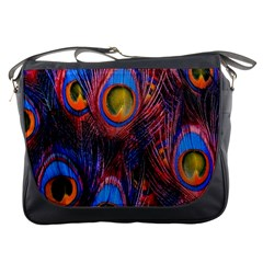 Pretty Peacock Feather Messenger Bags