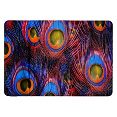 Pretty Peacock Feather Samsung Galaxy Tab 8 9  P7300 Flip Case by BangZart