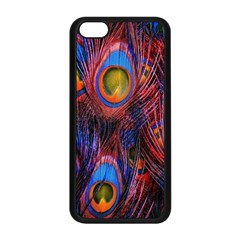 Pretty Peacock Feather Apple Iphone 5c Seamless Case (black) by BangZart