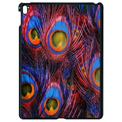 Pretty Peacock Feather Apple Ipad Pro 9 7   Black Seamless Case by BangZart