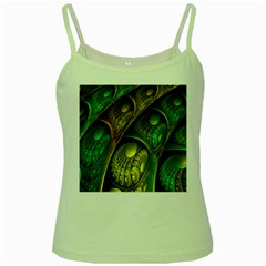 Psytrance Abstract Colored Pattern Feather Green Spaghetti Tank by BangZart