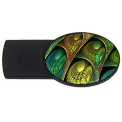 Psytrance Abstract Colored Pattern Feather Usb Flash Drive Oval (2 Gb) by BangZart
