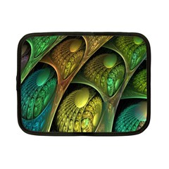 Psytrance Abstract Colored Pattern Feather Netbook Case (small)  by BangZart