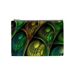 Psytrance Abstract Colored Pattern Feather Cosmetic Bag (medium)  by BangZart