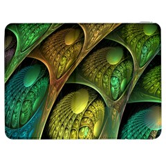 Psytrance Abstract Colored Pattern Feather Samsung Galaxy Tab 7  P1000 Flip Case