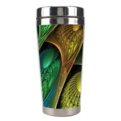 Psytrance Abstract Colored Pattern Feather Stainless Steel Travel Tumblers by BangZart