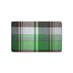 Plaid Fabric Texture Brown And Green Magnet (name Card) by BangZart