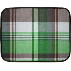 Plaid Fabric Texture Brown And Green Fleece Blanket (mini) by BangZart