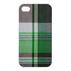 Plaid Fabric Texture Brown And Green Apple Iphone 4/4s Premium Hardshell Case by BangZart