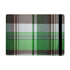 Plaid Fabric Texture Brown And Green Ipad Mini 2 Flip Cases by BangZart