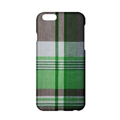 Plaid Fabric Texture Brown And Green Apple Iphone 6/6s Hardshell Case by BangZart