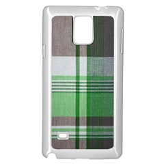Plaid Fabric Texture Brown And Green Samsung Galaxy Note 4 Case (white) by BangZart