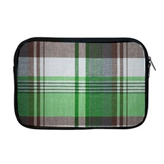 Plaid Fabric Texture Brown And Green Apple Macbook Pro 17  Zipper Case by BangZart