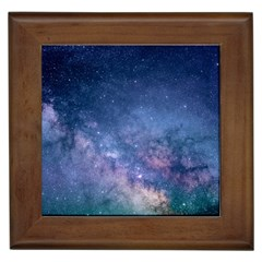 Galaxy Nebula Astro Stars Space Framed Tiles by paulaoliveiradesign