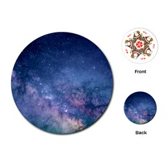 Galaxy Nebula Astro Stars Space Playing Cards (round)  by paulaoliveiradesign