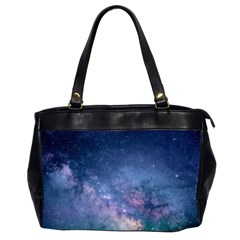 Galaxy Nebula Astro Stars Space Office Handbags (2 Sides)  by paulaoliveiradesign