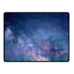 Galaxy Nebula Astro Stars Space Fleece Blanket (small) by paulaoliveiradesign