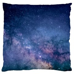 Galaxy Nebula Astro Stars Space Large Cushion Case (one Side) by paulaoliveiradesign