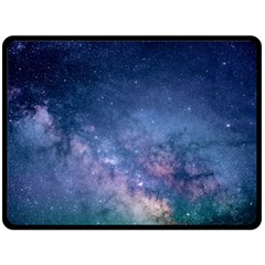 Galaxy Nebula Astro Stars Space Double Sided Fleece Blanket (large)  by paulaoliveiradesign