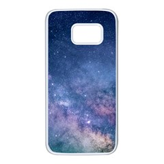 Galaxy Nebula Astro Stars Space Samsung Galaxy S7 White Seamless Case by paulaoliveiradesign