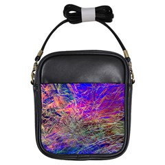 Poetic Cosmos Of The Breath Girls Sling Bags by BangZart