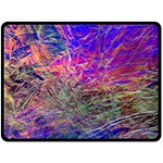 Poetic Cosmos Of The Breath Double Sided Fleece Blanket (Large)  80 x60  Blanket Back